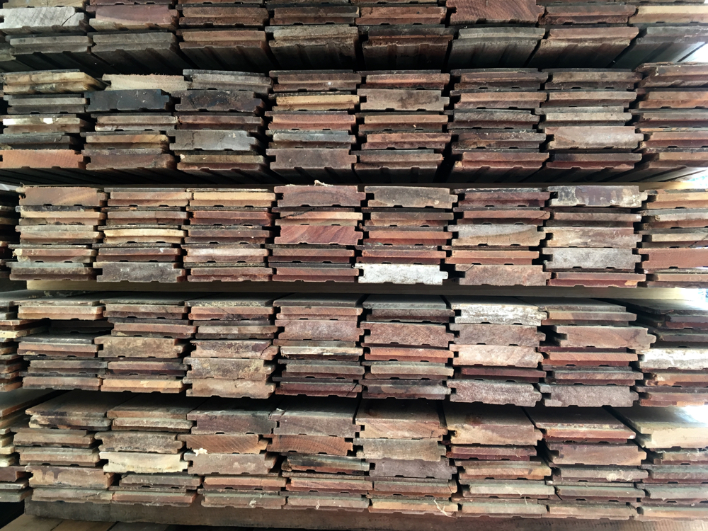 Salvaged Spotted Gum flooring seconds 80 x 18mm