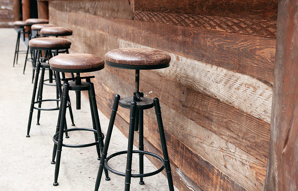 Oregon cladding on the bar