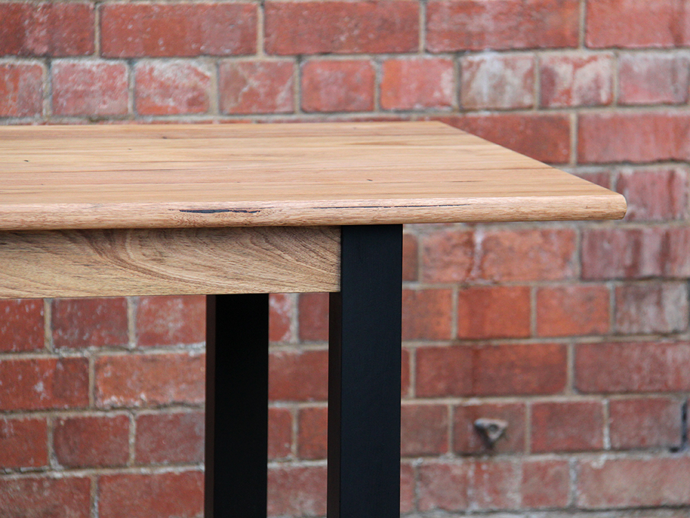 Detail of a locally sourced Ash table