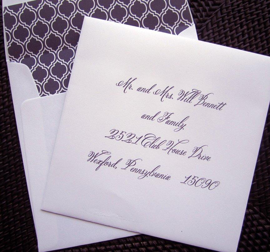 Envelope Addressing — Best Dallas Wedding Planning and Custom ...