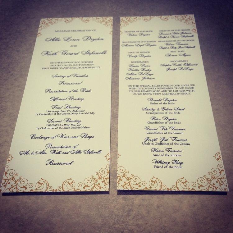 Programs — Best Dallas Wedding Planning and Custom Wedding Invitations
