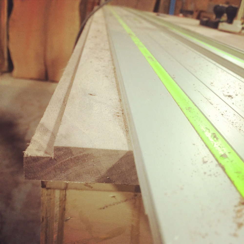 By using the Festool track and router we are able to safely and accurately cut tight fitting panels.