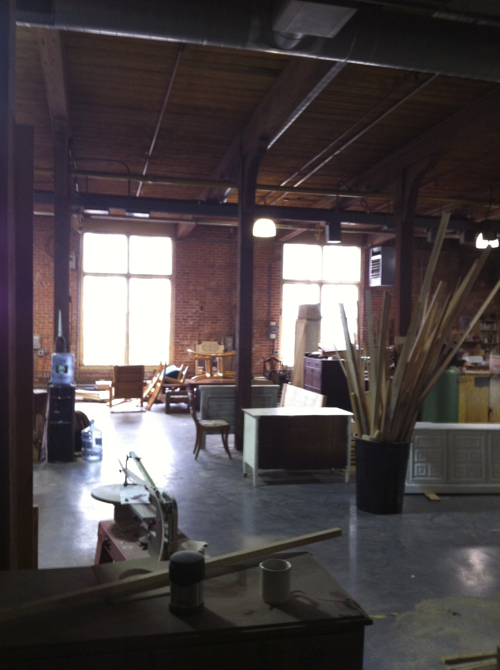 A view from the first woodshop located on Manton Ave in Providence RI