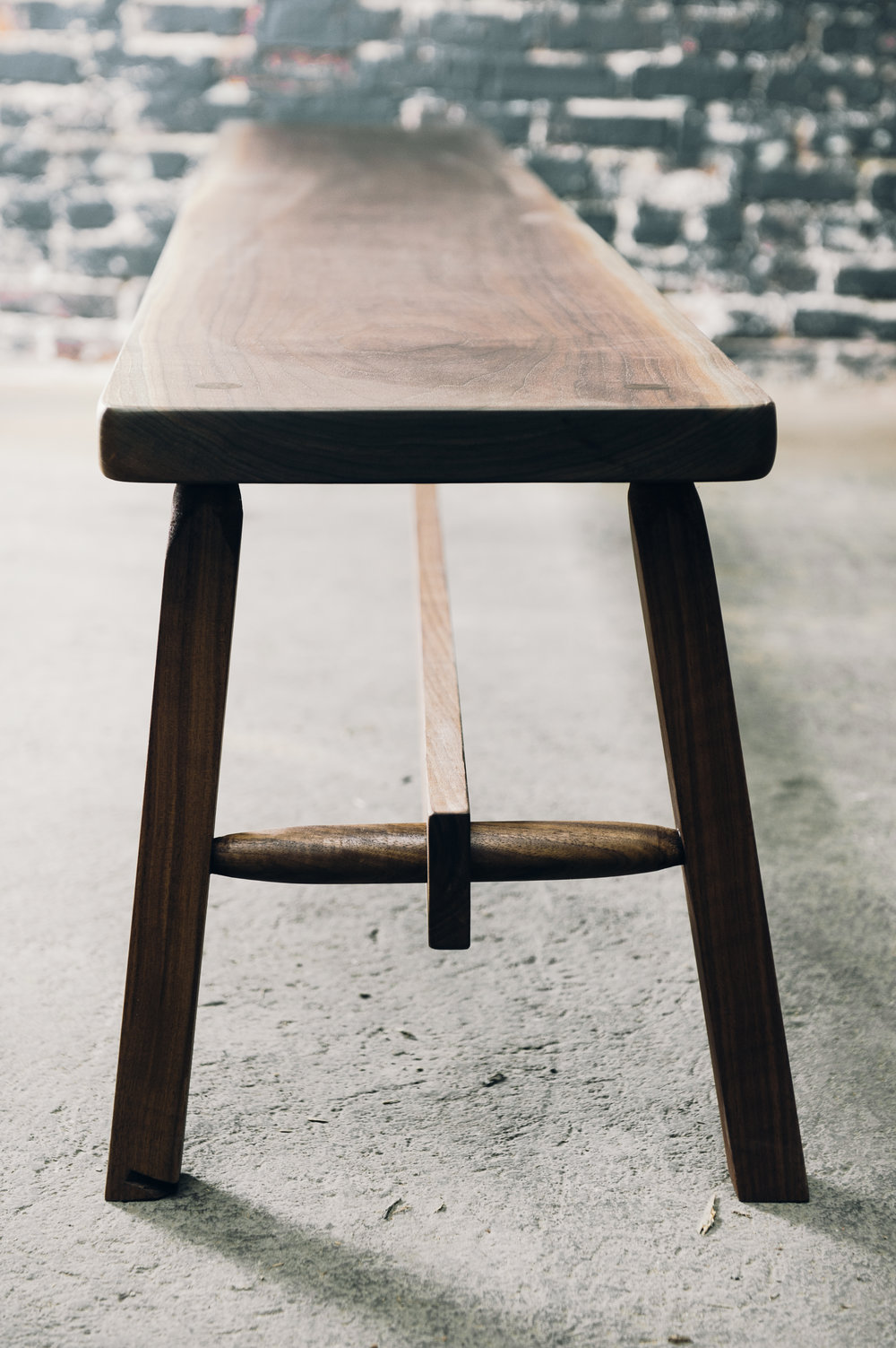 Custom benches with traditional through mortise & tenon joinery. -