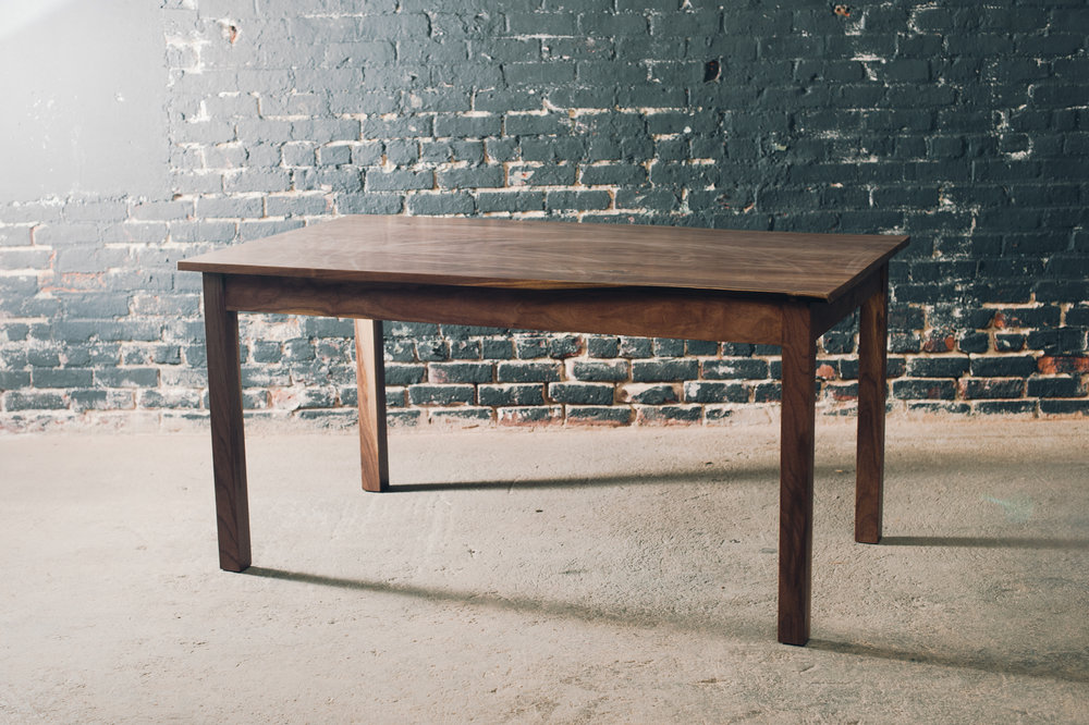 5' Walnut farm table with solid walnut base - Available for delivery in our showroom