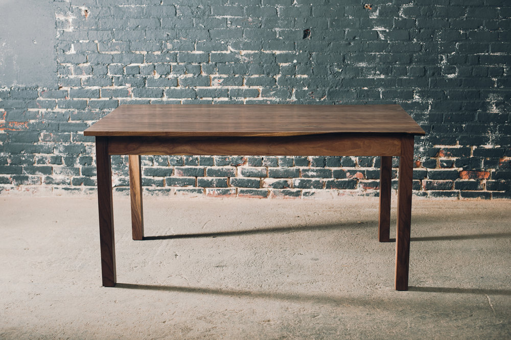 5' x 3' Black Walnut Farm Table with Walnut Base