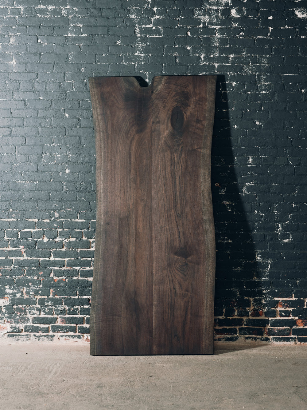 7' x 3' Charcoal Walnut Slab Table (Sold)