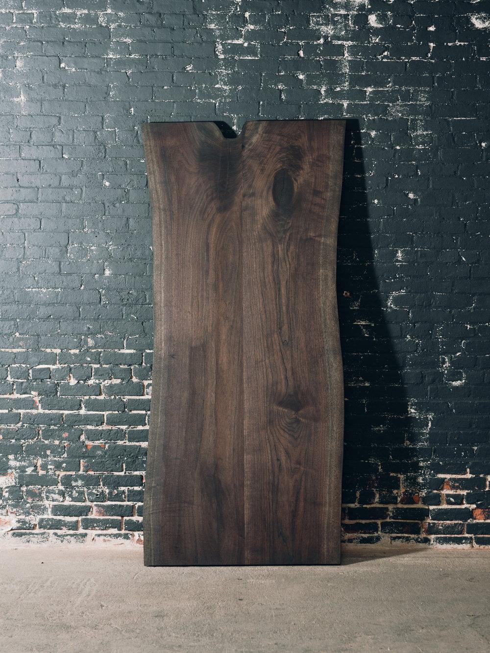 7' x 3' Charcoal Walnut Slab Table (Sold)
