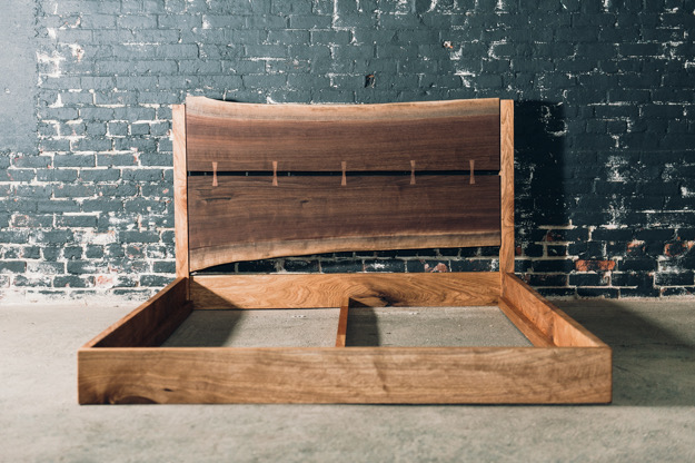 Queen Walnut & Butternut Bed (Ready to ship)