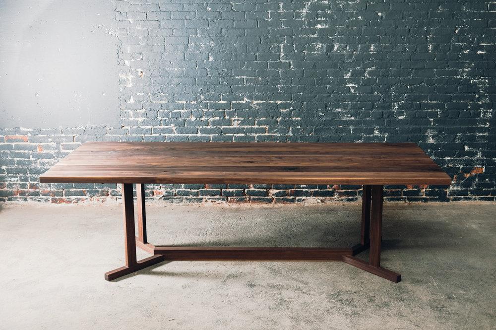 Walnut Table and Shaker Base