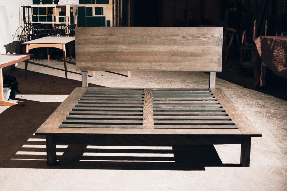 California King Platform Bed in Ash