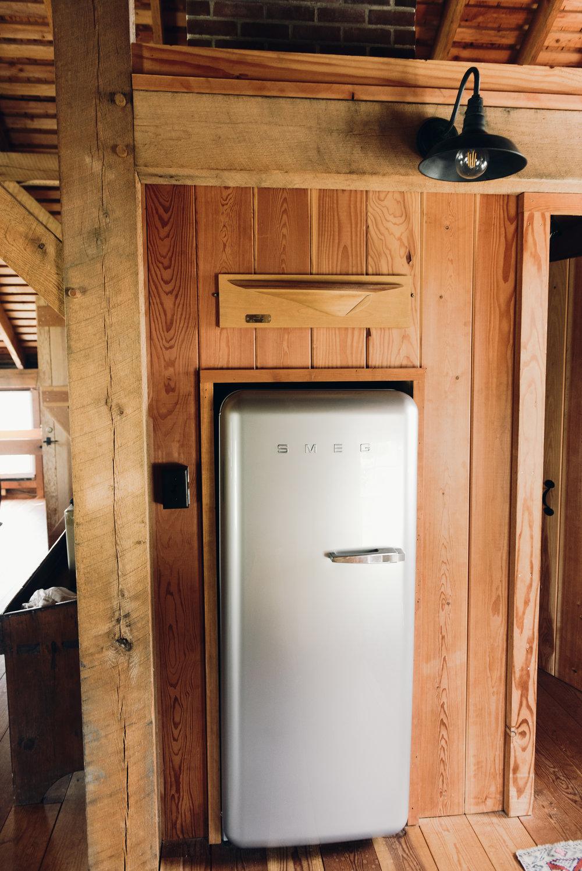 Smeg refrigerator built in cabinet