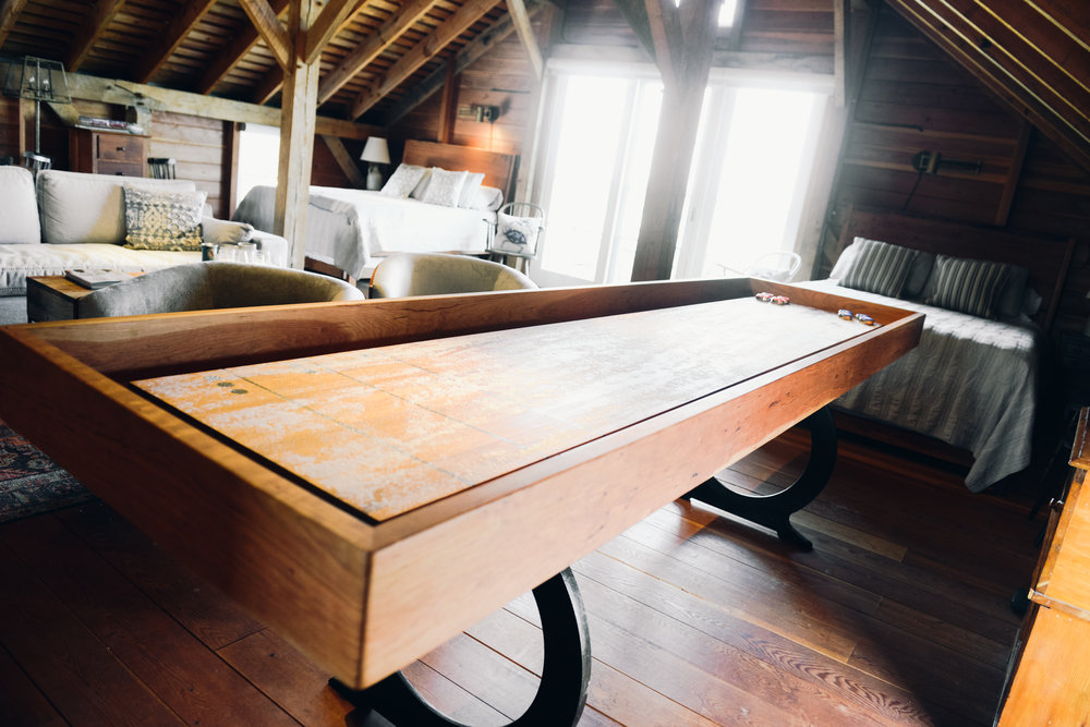 custom wood shuffleboard table