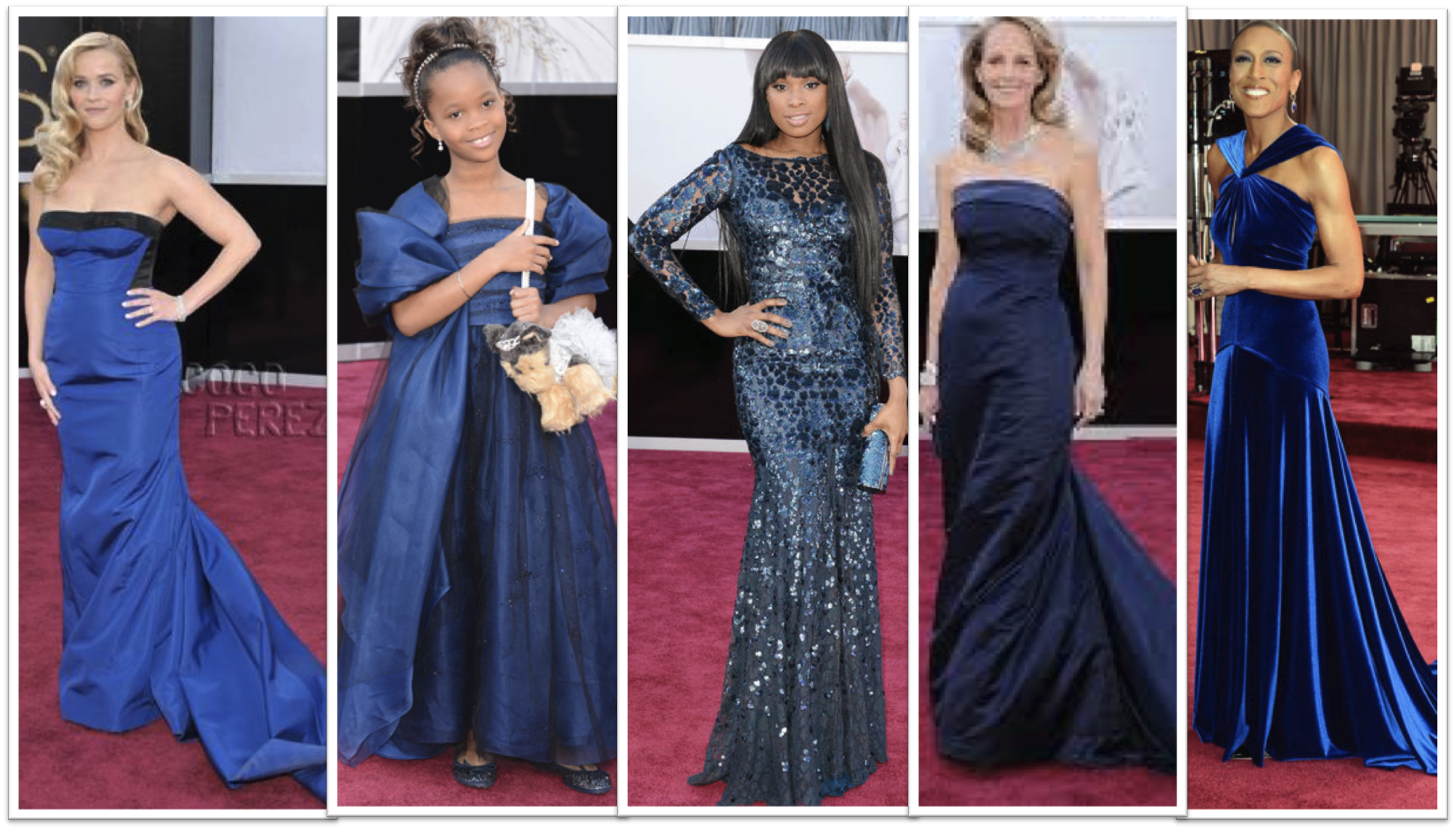 Blue Dresses Oscars 2013