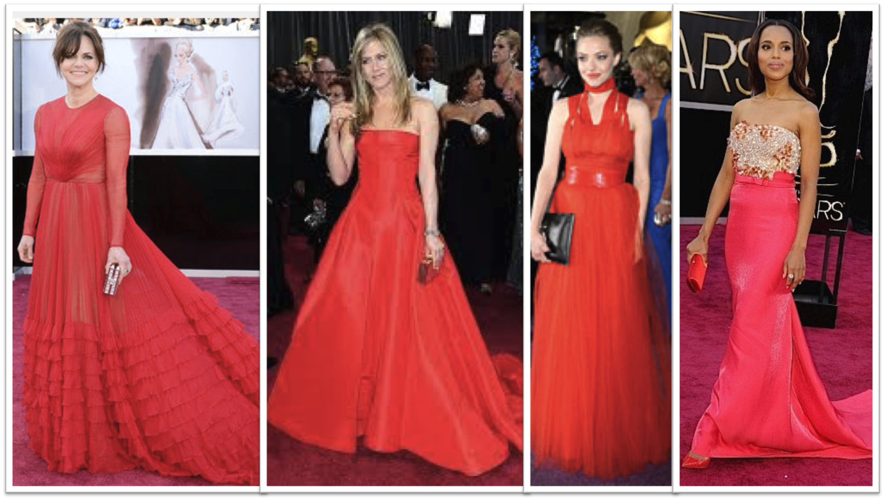 Red Dresses Oscars 2013