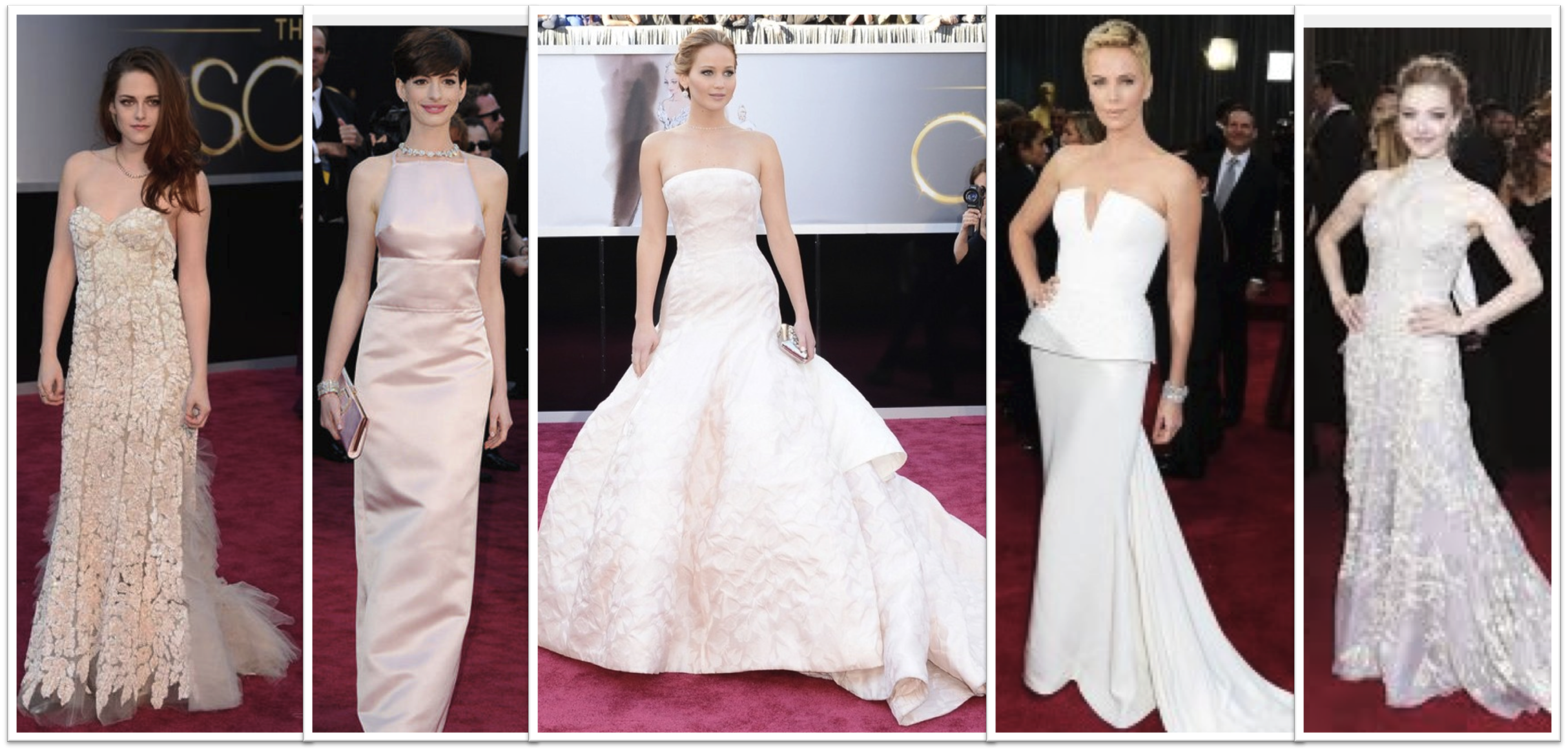 White Dresses Oscars 2013