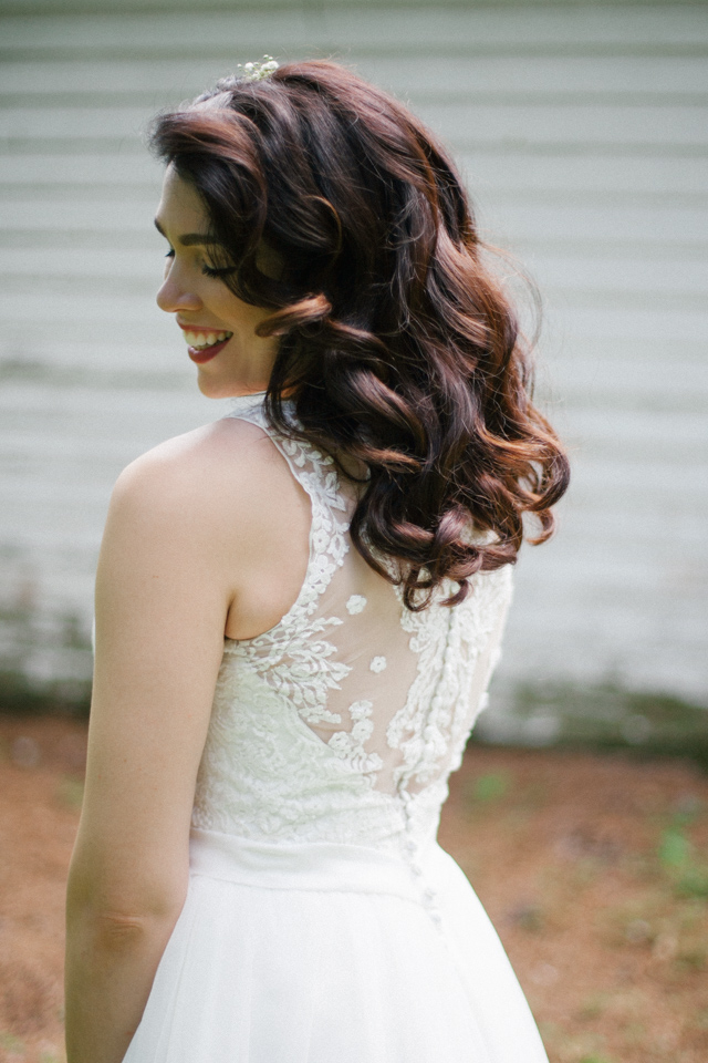 bride over the shoulder