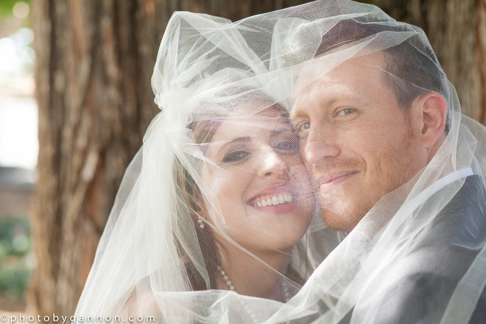 bride and groom under veil - makeup by lace cosmetics