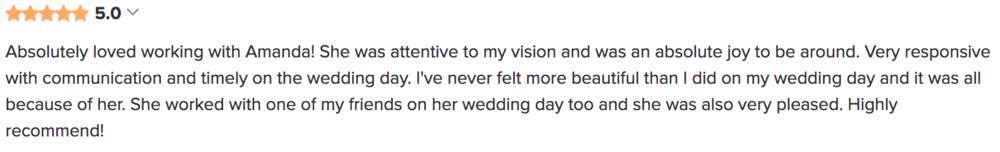 atlanta wedding makeup artist review