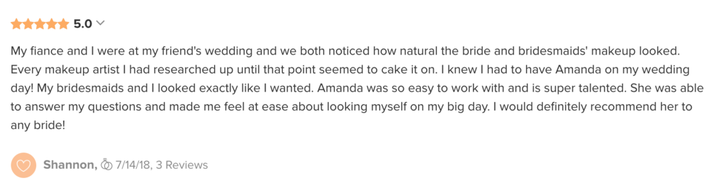 bride's review