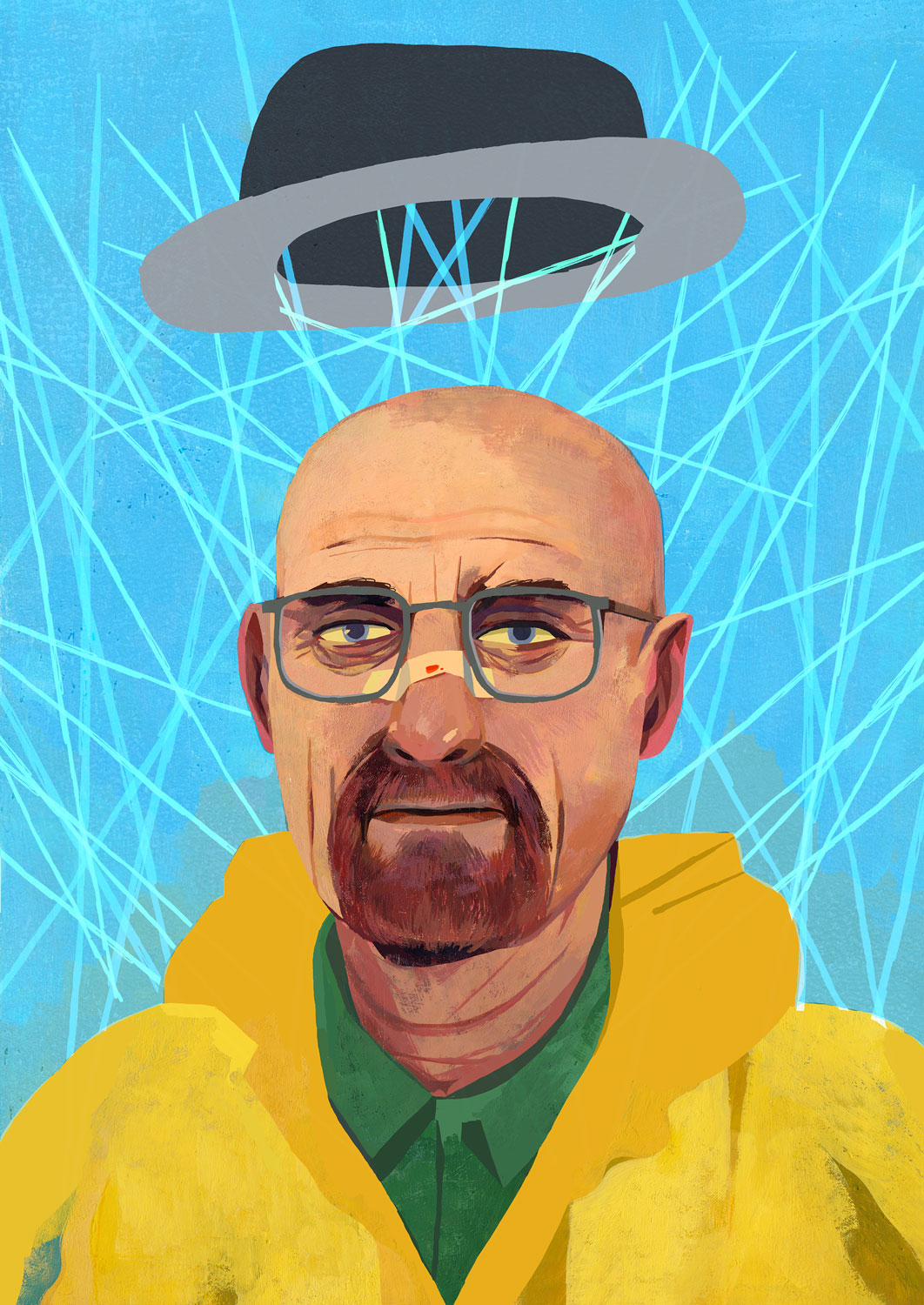 Happy Breaking Bad day everyone. Here is an older piece from an in -class demo on gouache painting that I did in the spring.