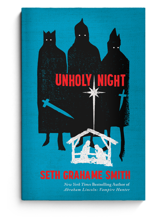 Just an amazing array of comps The Heads of State put together for this cover. Really drives home the importance of trying new compositions to get the perfect feel for the text.  printmag: Image of the Day: The Heads of State designed the cover for Seth Grahame-Smith's latest, Unholy Night. They also have a great post revealing the process at their blog.