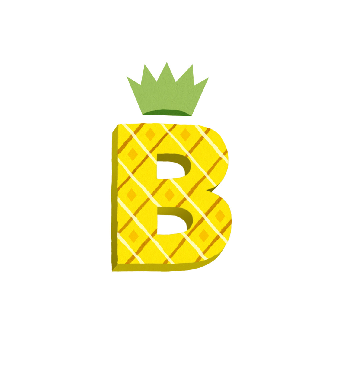 B is for Pineapple! Dropcap for a project that will never see the light of day.