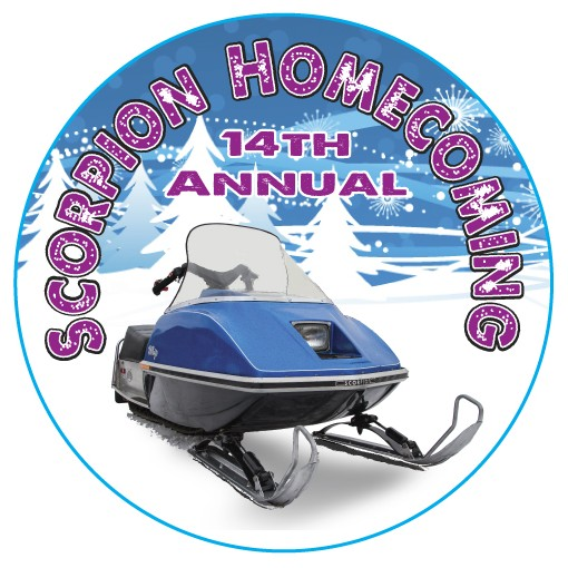 Support this event by purchasing your official Scorpion Homecoming 2018 button at the on-ice warming tent. At the 2018 Homecoming we celebrate not only the 1975 Whip, but also all other machines manufactured by the Crosby-Ironton based firm during its 20+ year existence. Only $4.00!
