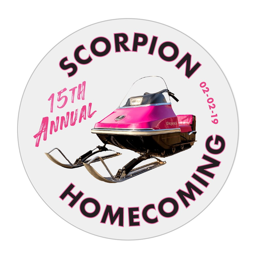 Support this event by purchasing your official Scorpion Homecoming 2019 button at the on-ice warming tent. At the 2019 Homecoming we celebrate the innovative Scorpion Stingerette. Only $4.00!