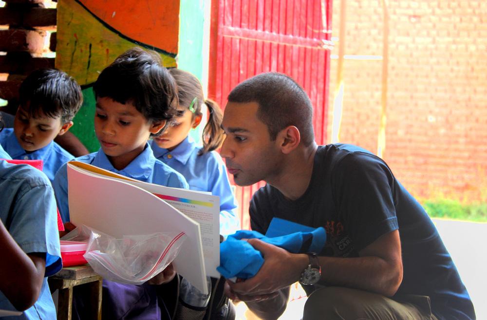 Funded 18 teachers supporting 400 underprivileged children