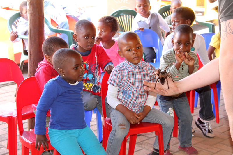 Employees bring joy and friendship to South African children