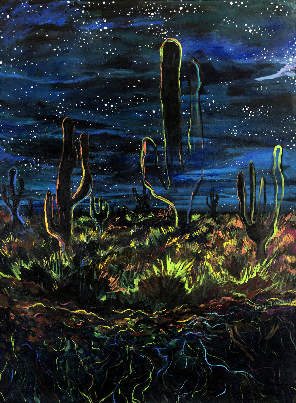 CACTUS DREAM acrylic on canvas