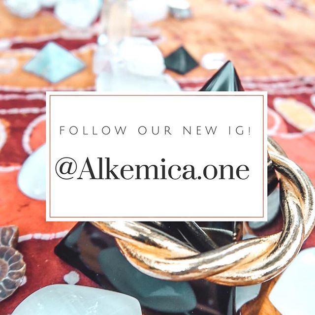 Hey Alkemica fam! Thank you for showing up to support us as we build Alkemica's IG page 🙏 We have created a new account that better reflects our overall message of living a purposeful lifestyle.  Follow us at @alkemica.one to come along to our next chapter!