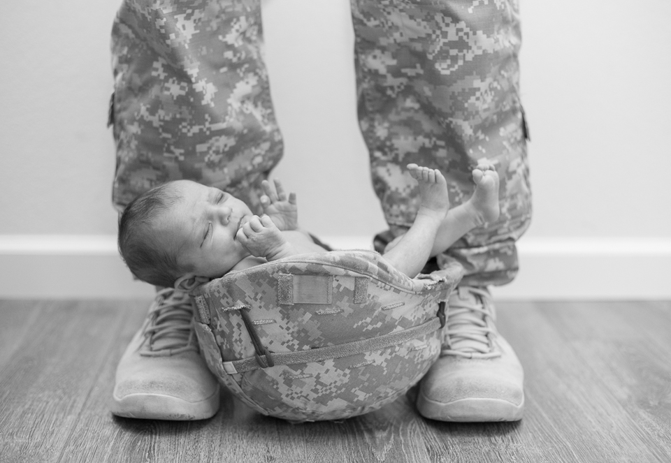 Army newborn photography