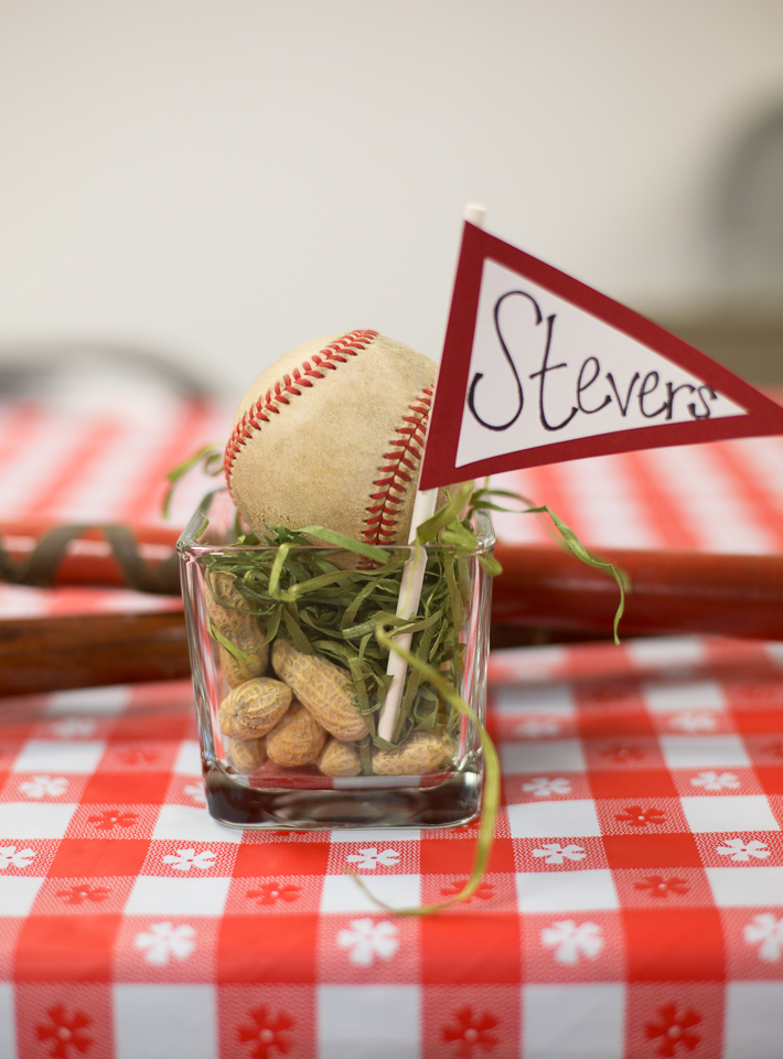 Baseball themed wedding