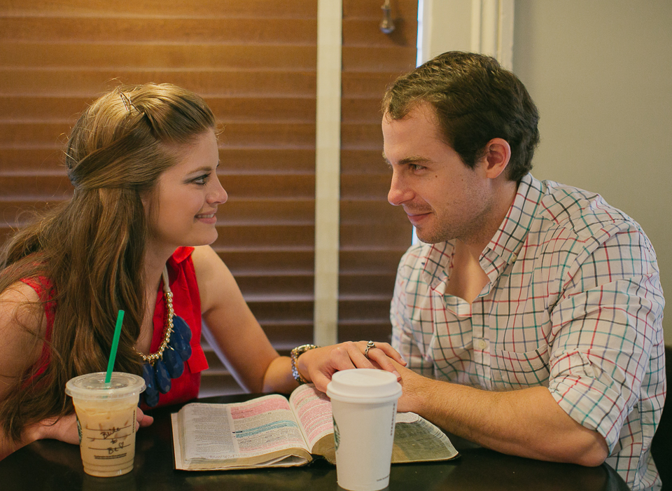 Starbucks Athens Georgia engagement photos