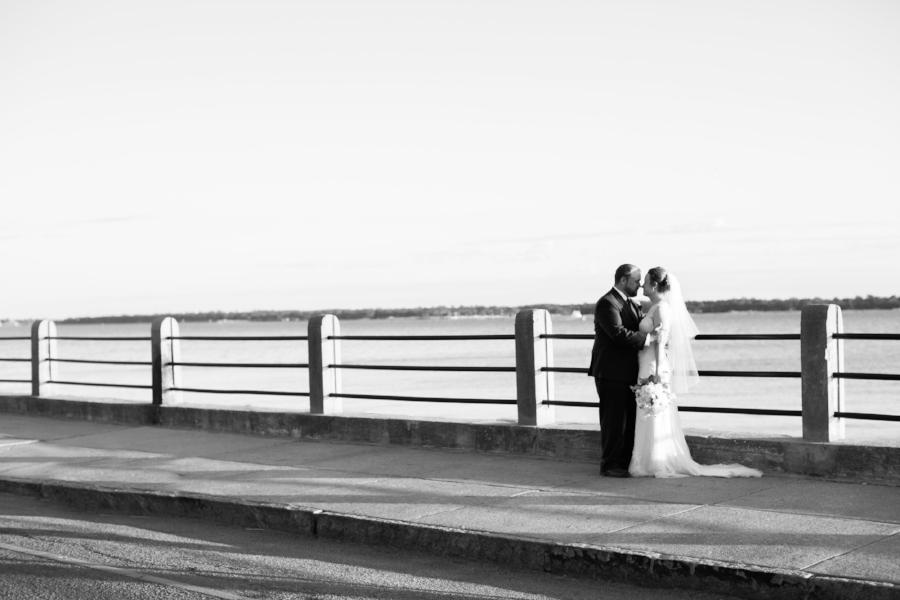 Charleston wedding photos at The Battery