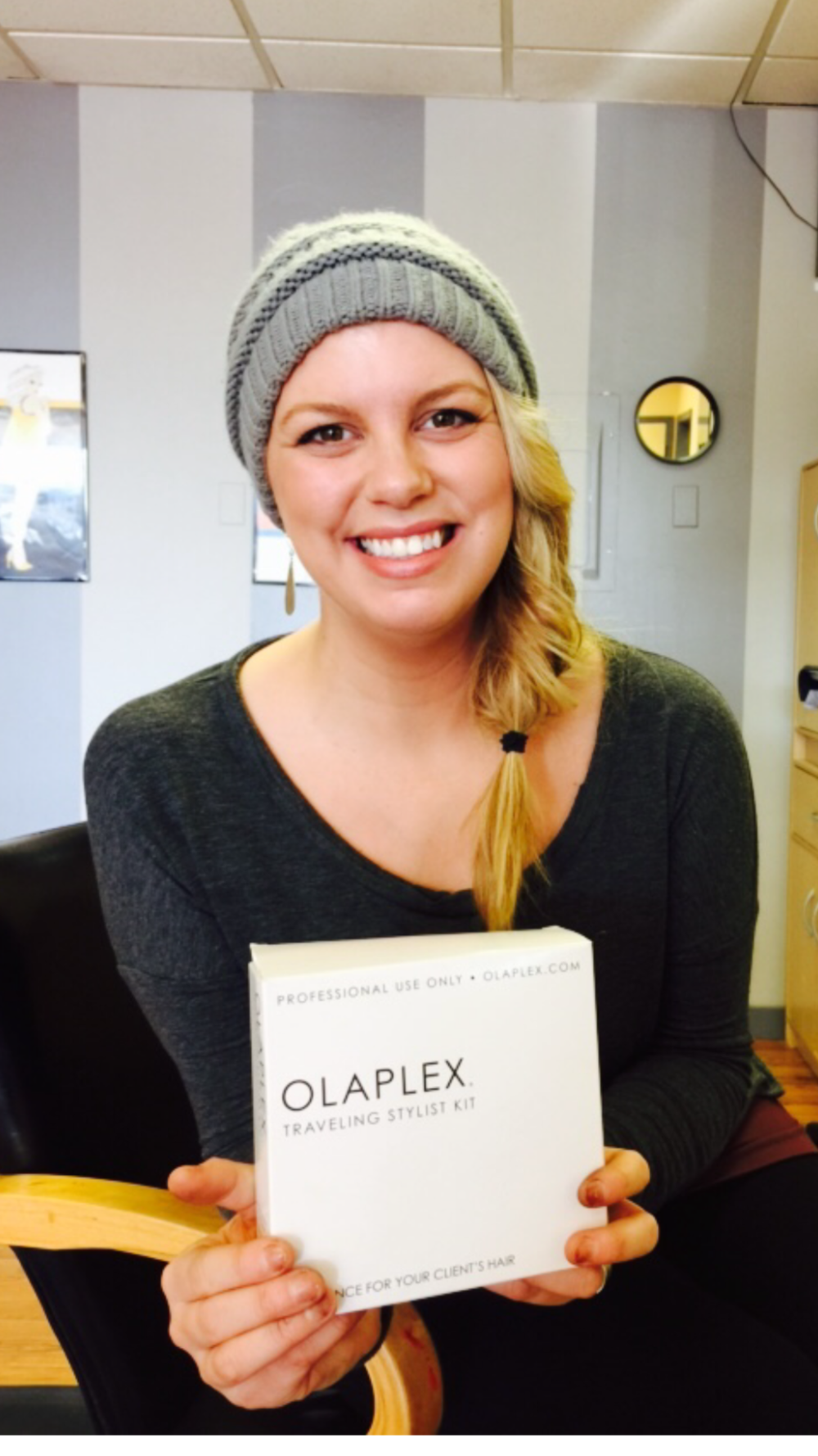 "Amanda's favorite hair product is Olaplex.  ""The shiz is the biz."" -Amanda"