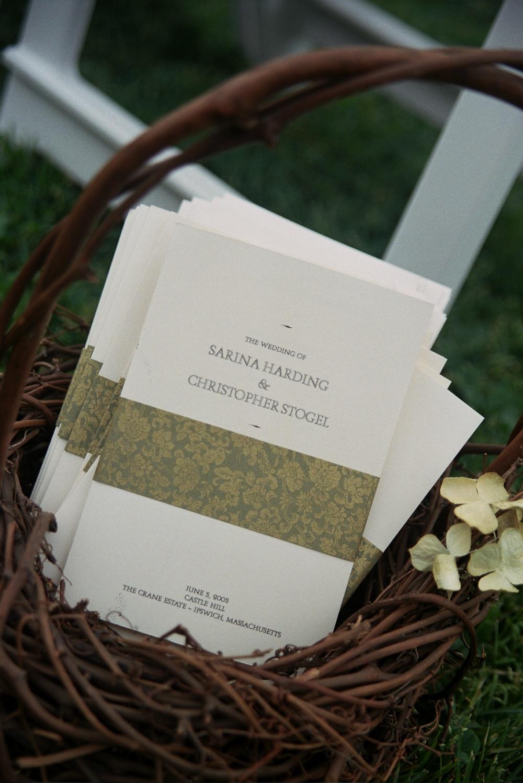 Soft Ivory Ceremony Programs