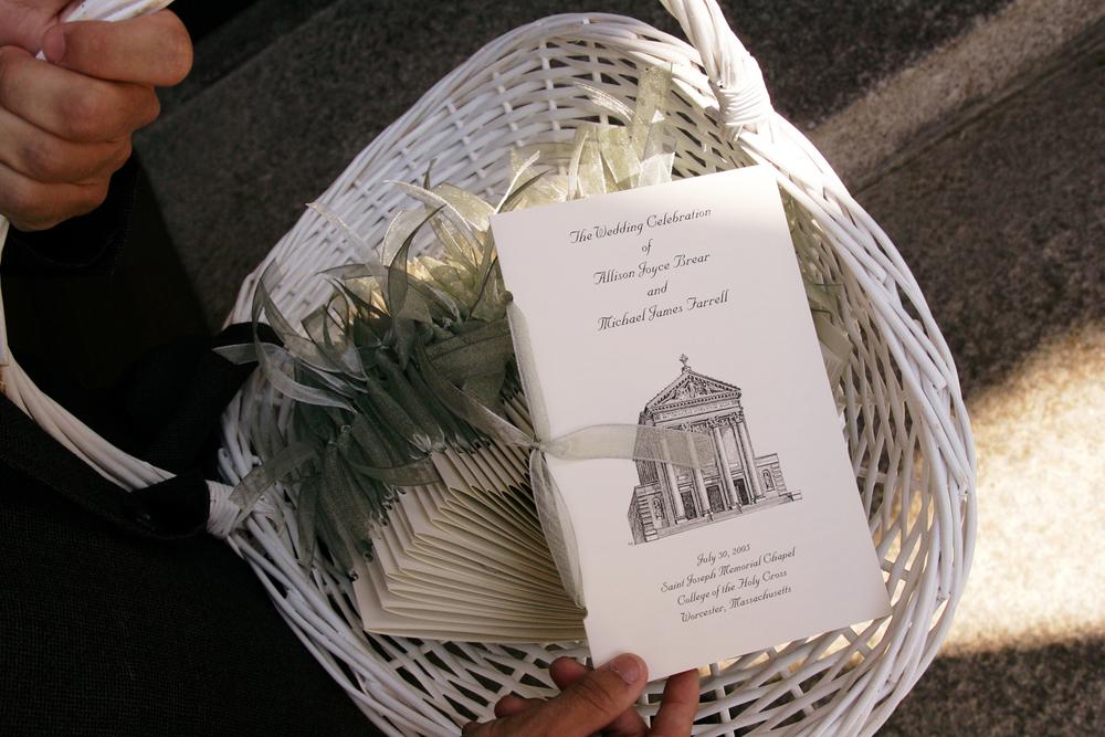 Basket of Ceremony Programs