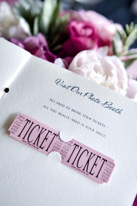 """Custom """"Ticket"""" in Ceremony Program"""