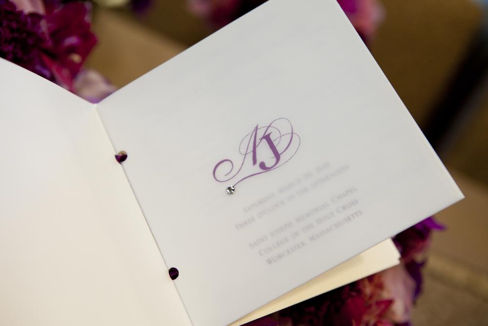 Inside Shot of Ceremony Program