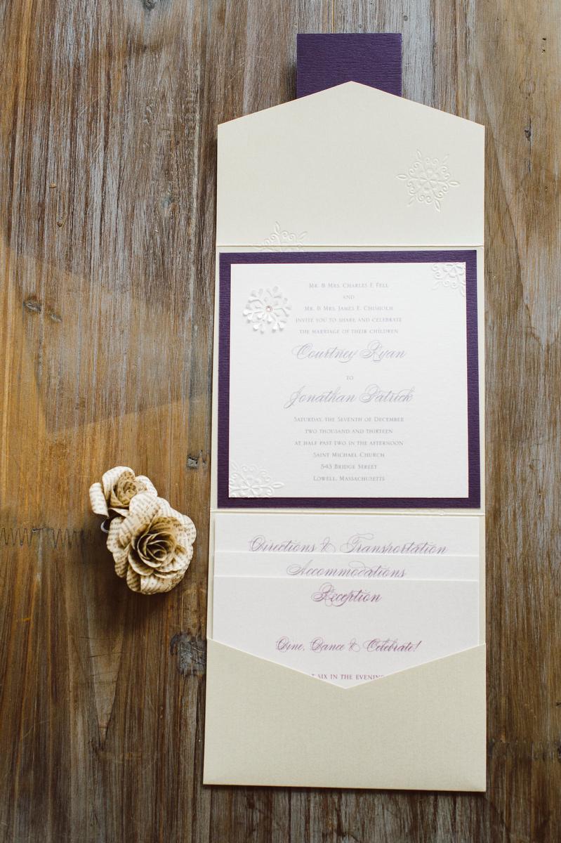 5x5 signature pocket fold invitation