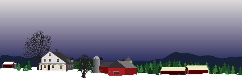 Winter in Vermont - Illustration by Donna Kim of The Perfect Details