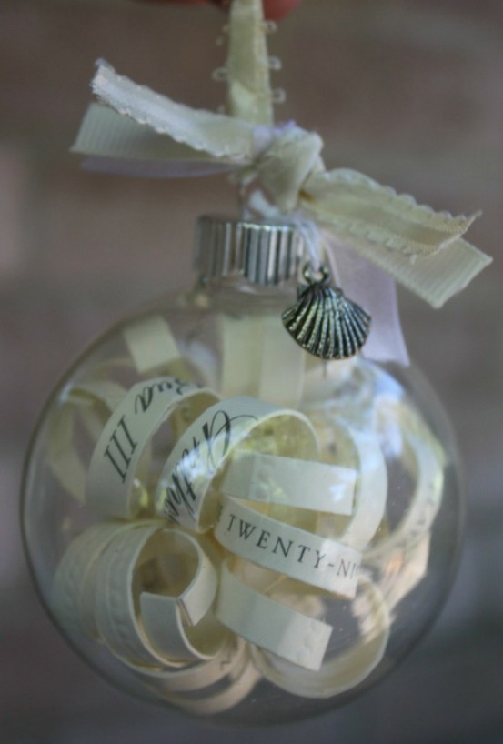 Create Your Own Ornament From Your Wedding Invitation And A Clear Globe Ornament From Your Local Craft Store What A Great Way To Remember That First Year