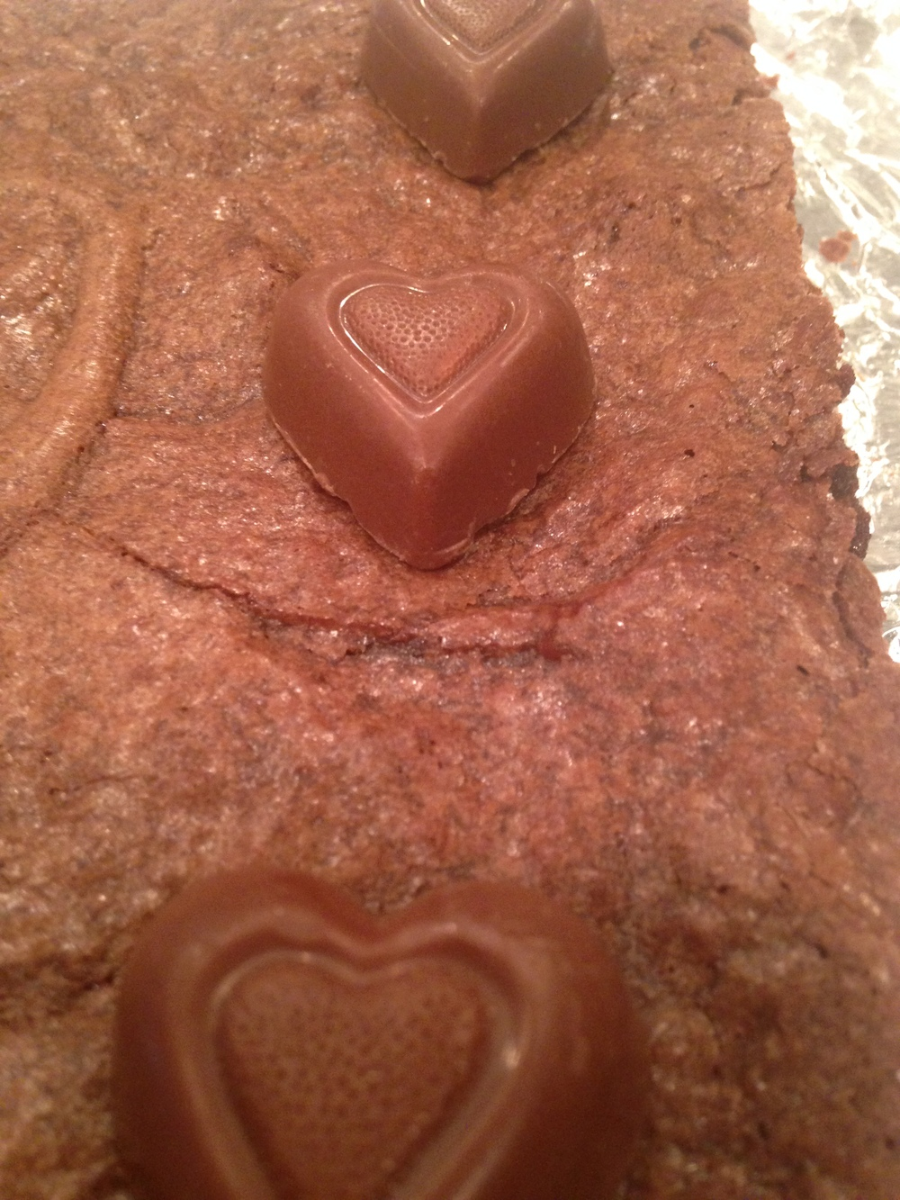 A closeup of the Reese's Peanut Butter Heart