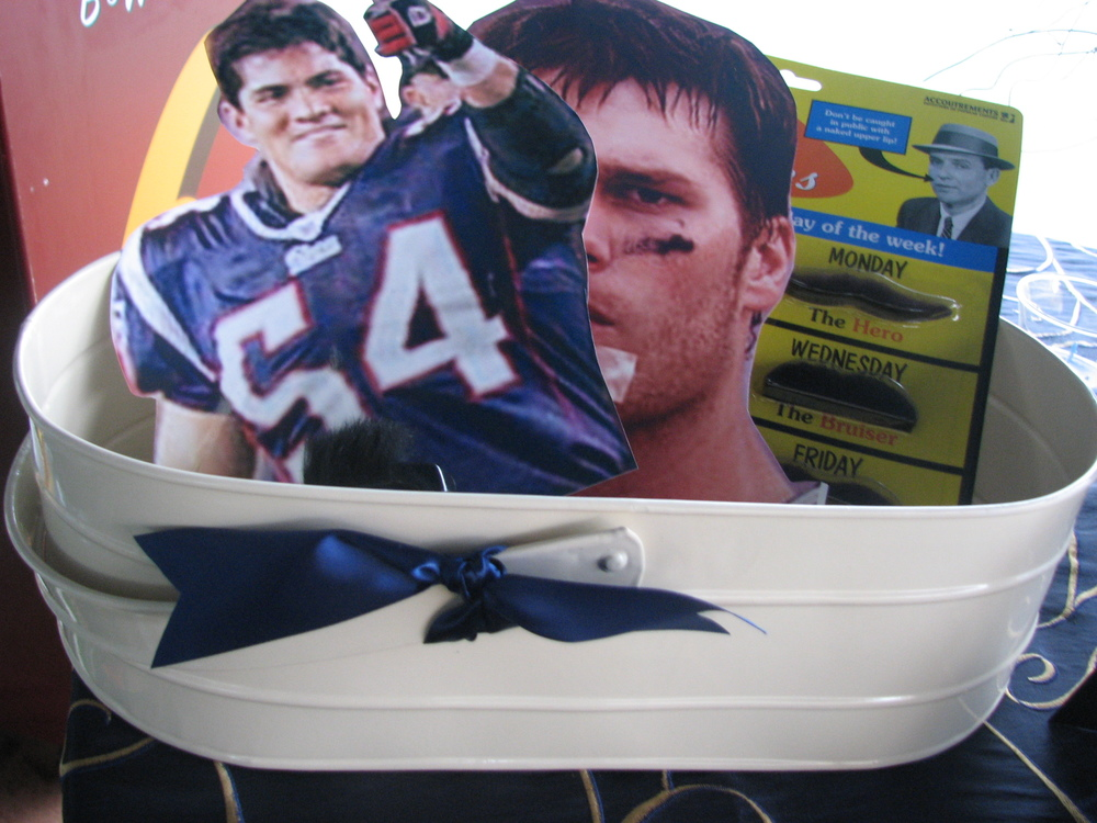 """Even Tedy Bruschi and Tom Brady can be """"guests"""" (aka Photo Booth props) at your wedding. Photo: The Perfect Details"""