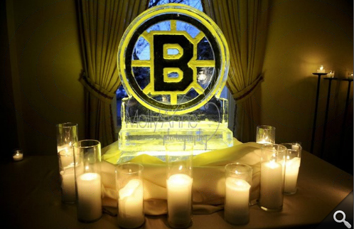 This ice sculpture for the ultimate Bruins fan! Ice, get it? Photo: Molly Anne