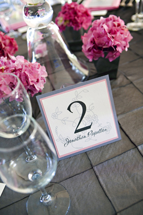 One of the bride's guests (from another country) thought the name on the table number was their server. We would have LOVED that!!! Alas, it was not true.  Photo: Kristin Spencer