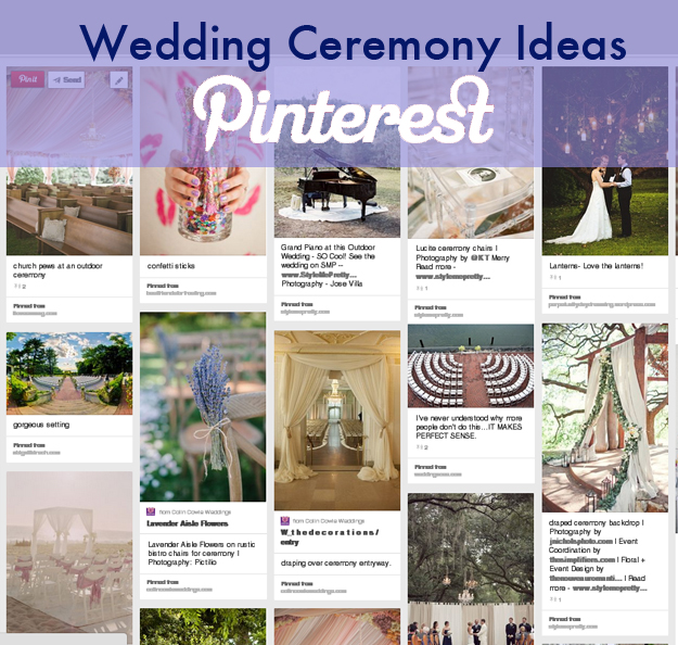 Wedding Wednesday Our Pinterest Board Wedding Ceremony Ideas Boston Wedding Planner